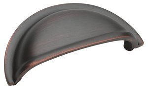 """Amerock BP4235ORB Oil-Rubbed Bronze 3"""" Cup Pull from the Advantage   Solid Brass Collection"""
