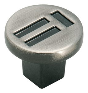 """Amerock BP4421PWT Pewter 1 1/4"""" Knob from the Evolutions Collection"""