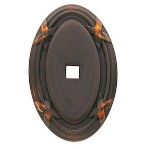 Baldwin 4619 1-1/4 Inch x 2 Inch Oval Edinburgh Cabinet Knob Back Plate