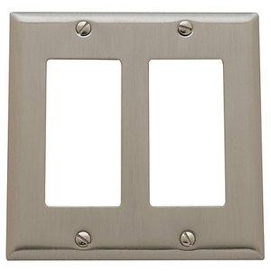 Baldwin 4741 Beveled Edge Double GFCI Switch Plate