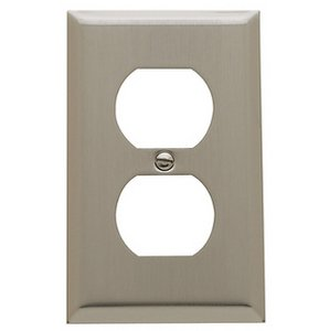 Baldwin 4752 Beveled Edge Duplex Outlet Switch Plate