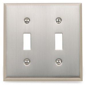 Baldwin 4761 Beveled Edge Double Toggle Switch Plate