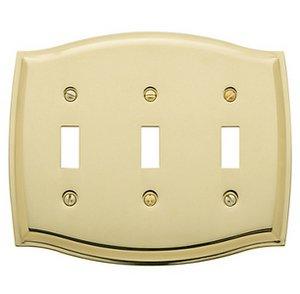 Baldwin 4780 Colonial Triple Toggle Switch Plate