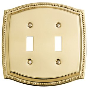 Baldwin 4790 Roped Edge Double Toggle Switch Plate
