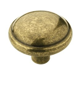 "Amerock BP53000BB Burnished Brass 1 1/4"" Knob from the Allison Collection"