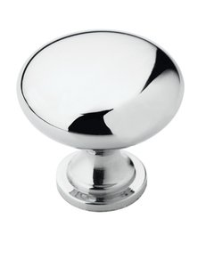 """Amerock BP5300526 Polished Chrome 1 1/4"""" Knob from the Allison Collection"""
