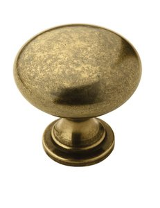 """Amerock BP53005BB Burnished Brass 1 1/4"""" Knob from the Allison Collection"""