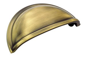 """Amerock BP53010EB Elegant Brass 3"""" Cup Pull from the Allison Collection"""