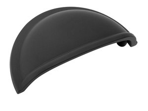 """Amerock BP53010FB Flat Black 3"""" Cup Pull from the Allison Collection"""
