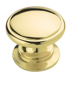 """Amerock BP530123 Polished Brass 1 1/4"""" Knob from the Allison Collection"""