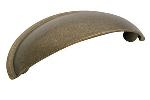 """Amerock BP53019R3 Rustic Brass 2 1/2"""" Cup Pull from the Allison Collection"""