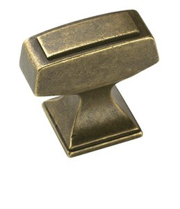 "Amerock BP53029R3 Rustic Brass 1 1/4"" T-Knob from the Mulholland Collection"