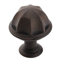 """Amerock BP53035ART Antique Rust 1"""" Knob from the Eydon Collection"""
