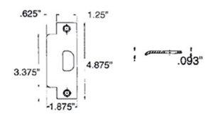 Baldwin 5510.ASTR Estate ASA Strike 1-1/4 Inch