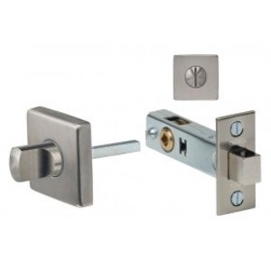 Omnia 6001S Stainless Steel Privacy Bolt with Square Rosette