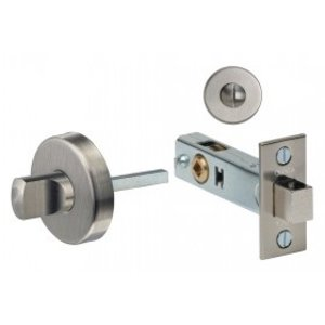 Omnia 6001 Stainless Steel Privacy Bolt with Round Rosette