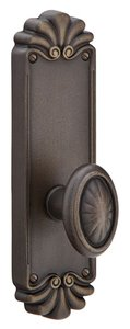 Emtek 6052 8-1/4 Inch Height Lost Wax Cast Bronze #16 Sideplate Dummy Set