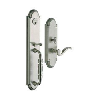 Baldwin 6544.LENT Estate Hamilton Single Cylinder Mortise Handleset for Left Handed Doors
