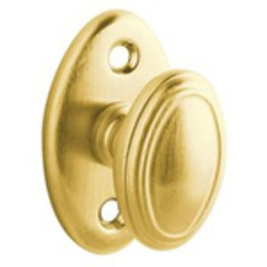 Baldwin 6732.EXT Turnpiece with Oval Backplate for Doors Thicker than 2-1/4 Inches