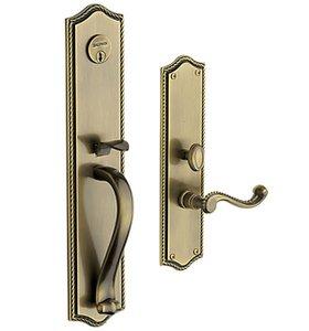 Baldwin 6963.RDBL Estate Bristol Double Cylinder Mortise Handleset for Right Handed Doors
