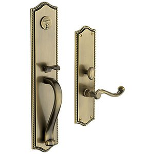Baldwin 6963.LDBL Estate Bristol Double Cylinder Mortise Handleset for Left Handed Doors