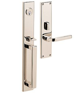 Baldwin 6976.LDBL Estate Minneapolis Double Cylinder Mortise Handleset for Left Handed Doors