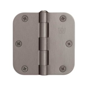 """Weslock 70100 3-1/2 Inch x 3-1/2 Inch Hinge with 5/8"""" Radius Corners (Sold in Pairs)"""