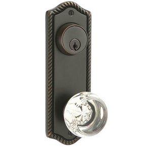 Emtek 7091 3-5/8 Inch Center to Center Rope Sideplate Double Cylinder
