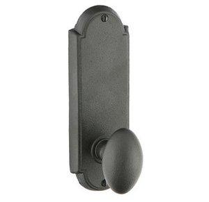 Emtek 7205 7-1/8 Inch Height Wrought Steel #5 Sideplate Privacy Set