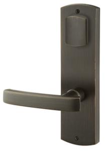 Emtek 7571 5-1/2 Inch Center to Center Sandcast Bronze Missoula Sideplate Double Cylinder