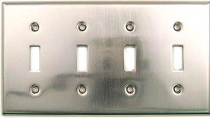 Rusticware 790 Quad Toggle Switch Plate