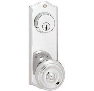 Emtek 8166 3-5/8 Inch Center to Center Delaware Sideplate Double Cylinder