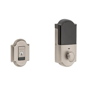 Baldwin 8252.B Estate Evolved Electronic Arched Single Cylinder Deadbolt for 2-1/8 Inch Bore Hole