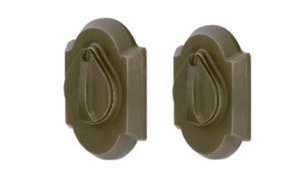 Emtek 8357SB #1 Sandcast Bronze Double Cylinder Deadbolt