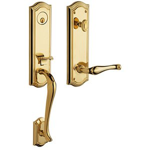 Baldwin 85337.RENT Estate Bethpage Single Cylinder Handleset for Right Handed Doors