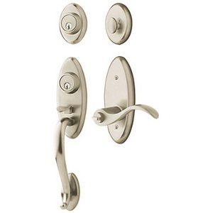 Baldwin 85345.2DCL Estate Landon Double Cylinder Two Point Handleset for Left Handed Doors
