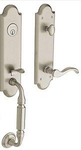 Baldwin 85350.LENT Estate Manchester Single Cylinder Handleset for Left Handed Doors