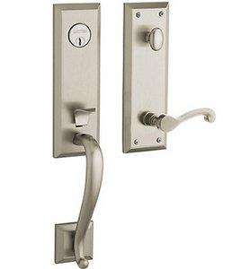 Baldwin 85355.LENT Estate Stonegate Single Cylinder Handleset for Left Handed Doors