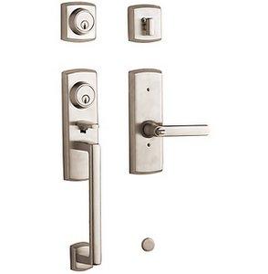 Baldwin 85385.2LH Estate Soho Single Cylinder Two Point Handleset for Left Handed Doors
