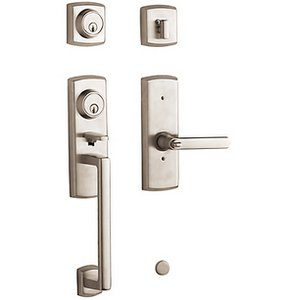 Baldwin 85385.2DCL Estate Soho Double Cylinder Two Point Handleset for Left Handed Doors