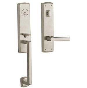 Baldwin M516.LENT Estate Soho Single Cylinder Mortise Handleset for Left Handed Doors