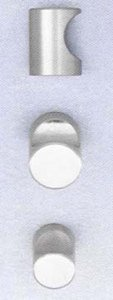 Omnia 9153/18 3/4 Inch Diameter Stainless Steel Knob