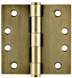 Emtek 92014 4 Inch x 4 Inch Heavy Duty Steel Plated Hinge with Square Corners (Sold in Pairs)