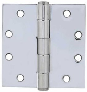 Emtek 92015 4-1/2 Inch x 4-1/2 Inch Heavy Duty Steel Plated Hinge with Square Corners (Sold in Pairs)