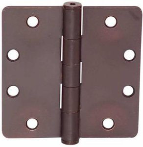 Emtek 92025 4-1/2 Inch x 4-1/2 Inch Heavy Duty Steel Plated Hinge with 1/4 Inch Radius Corners (Sold in Pairs)