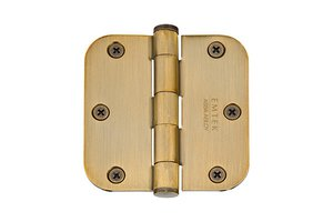 Emtek 92033 3-1/2 Inch x 3-1/2 Inch Heavy Duty Steel Plated Hinge with 5/8 Inch Radius Corners (Sold in Pairs)