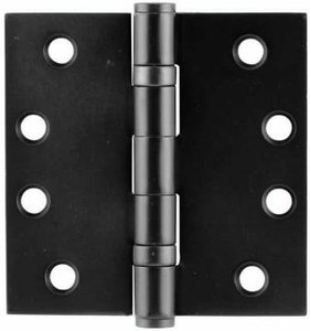 Emtek 94014 4 Inch x 4 Inch Heavy Duty Ball Bearing Steel Plated Hinge with Square Corners (Sold in Pairs)