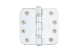 Emtek 94034 4 Inch x 4 Inch Heavy Duty Ball Bearing Steel Plated Hinge with 5/8 Inch Radius Corners (Sold in Pairs)