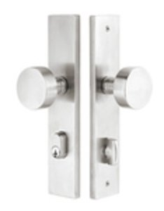 Emtek 9444 11 Inch Stretto Stainless Steel Narrow Trim Single Cylinder Set