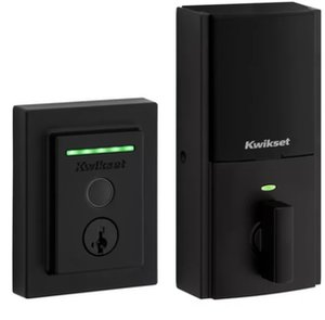 Kwikset 959CNTFPRT SMT Halo Touch Contemporary Fingerprint Deadbolt with Built-in Wifi and SmartKey